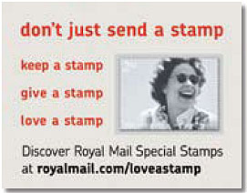 advertisement on inside cover of stamp booklet issued 2 October 2006.